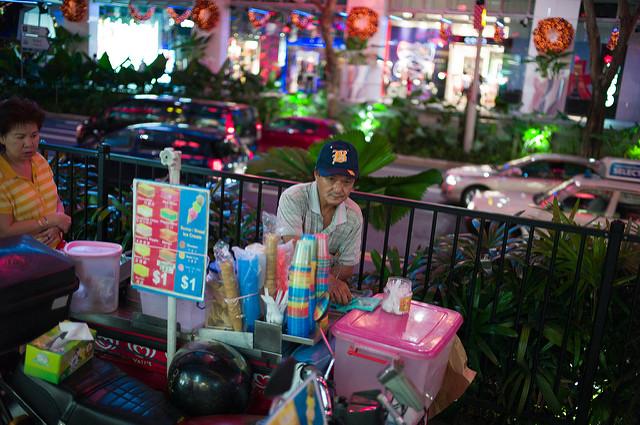 Ice cream parlour in Sinagapore