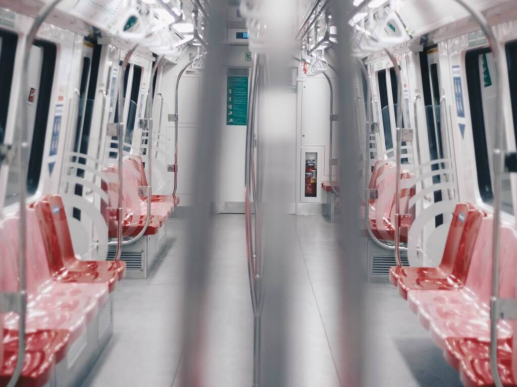 MRT train in Singapore