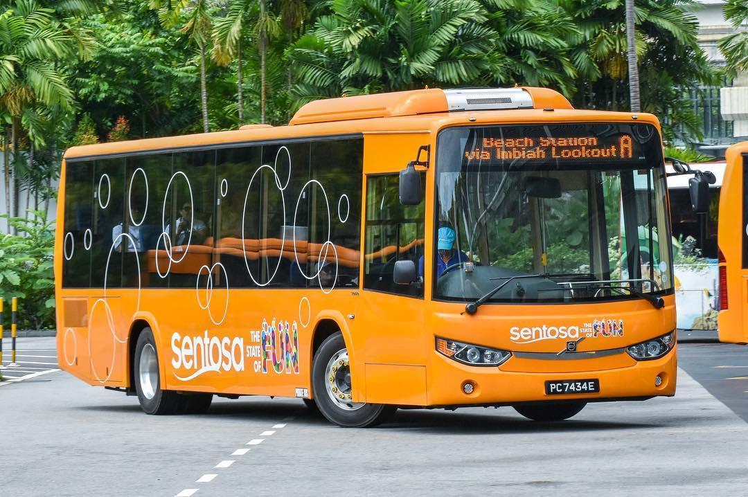 Bus A, Transportasi di Sentosa Island