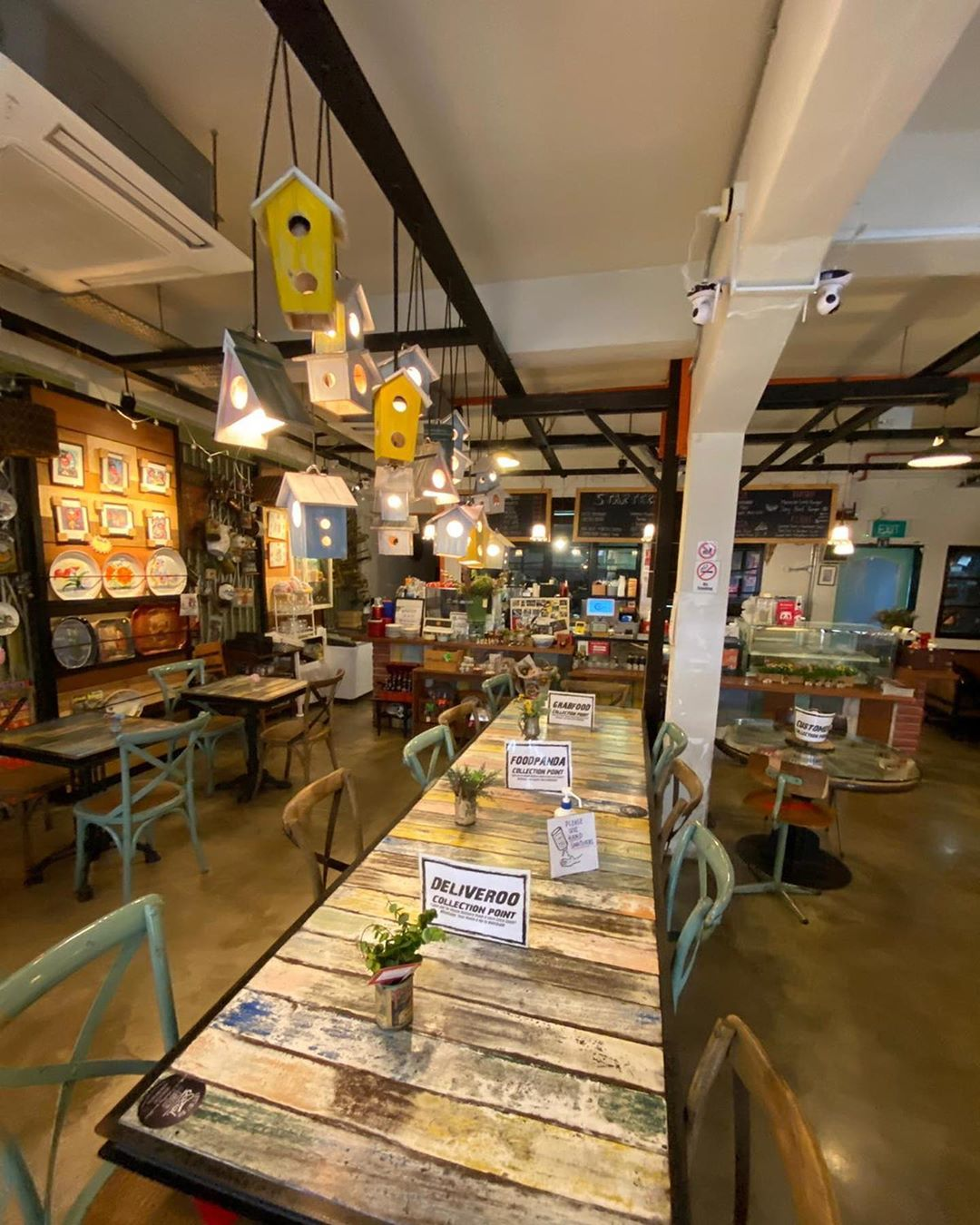 Kafe retro di Singapura