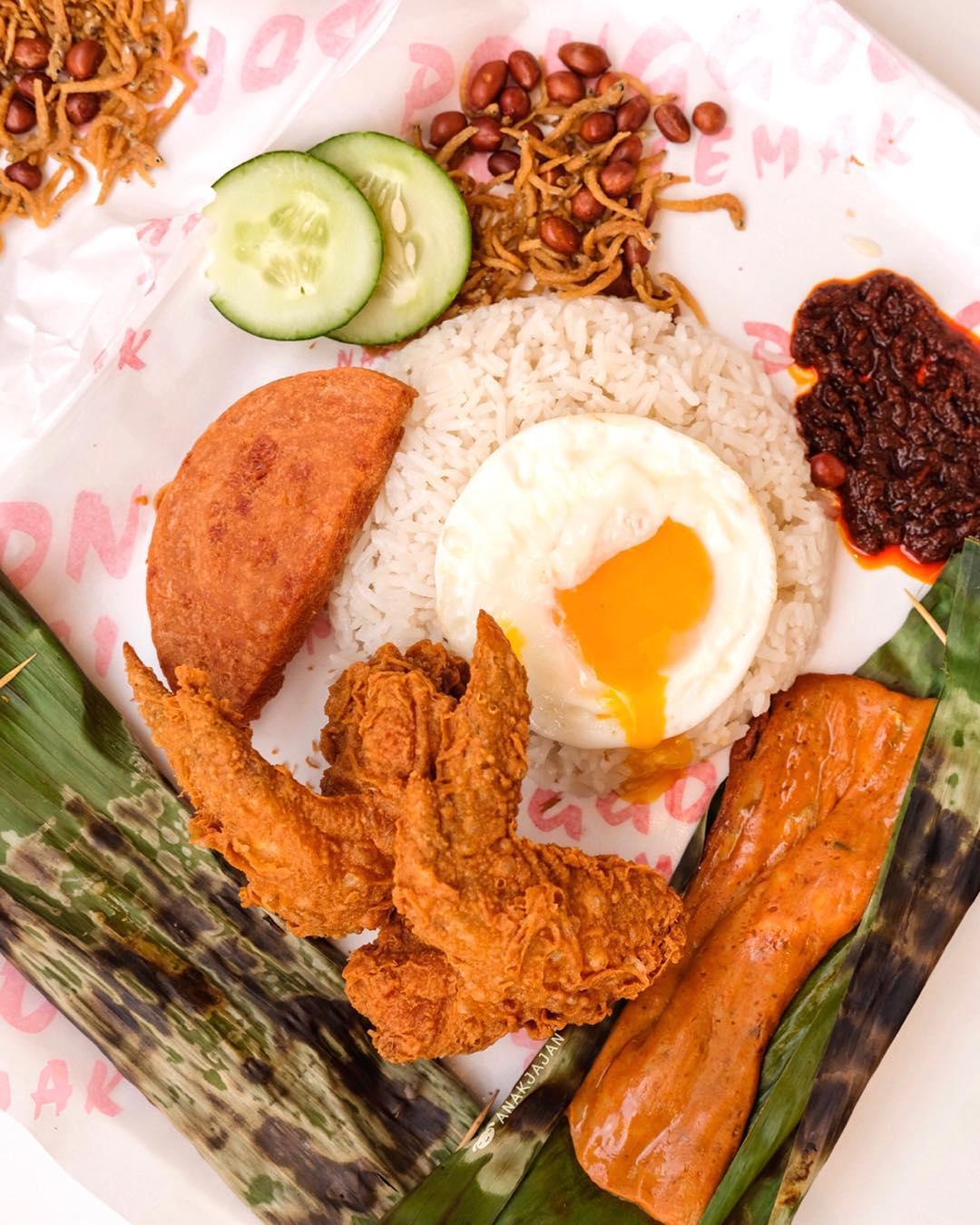 Ponggol Nasi Lemak. Instagram @anakjajan