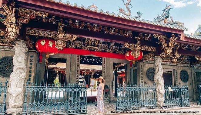 Thian Hock Keng Temple di Singapura. Instagram @globewanderingzz