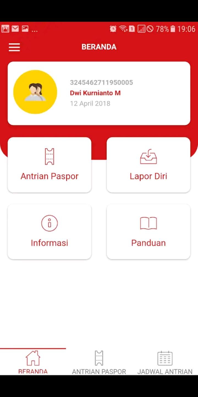 Ilustrasi screenshot Home aplikasi Layanan Antrian Online. Photo by Singaporeguidebookcom