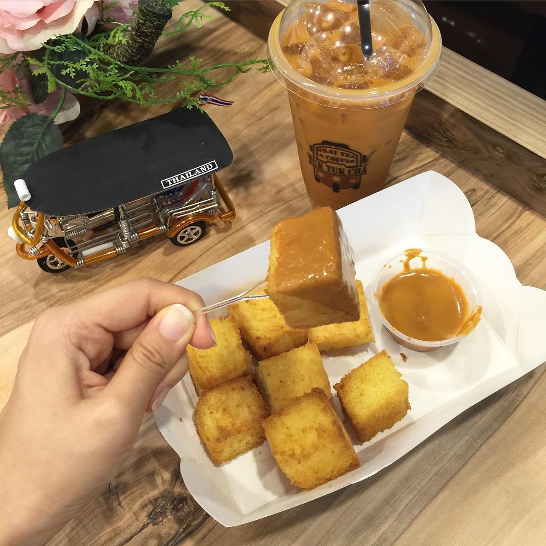 Kaya Toast di Tuk Tuk Cha. Instagram @8days_eat