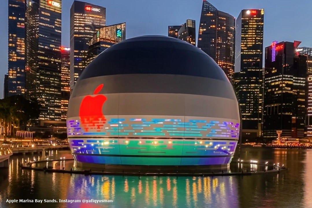Apple Marina Bay Sands Singapura. Instagram @yafiqyusman