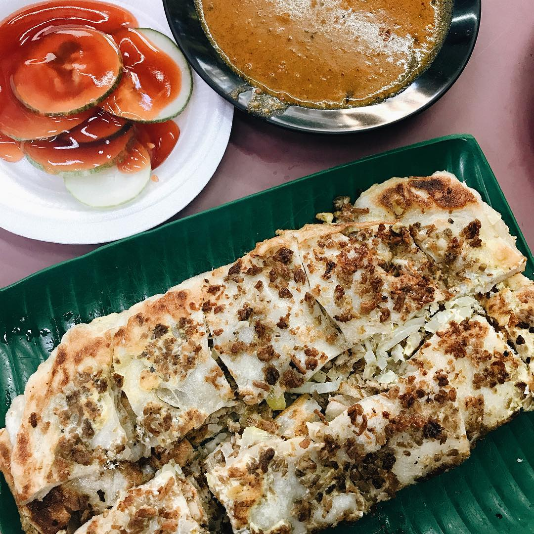 Murtabak di Zam Zam Restaurant. Instagram @izzatighfr