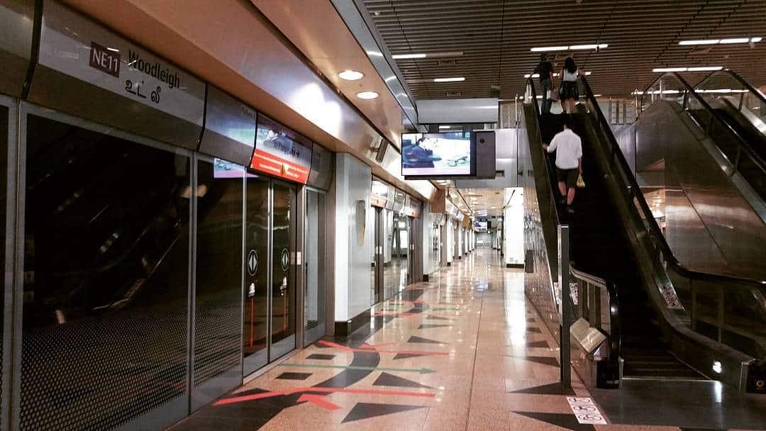 Stasiun MRT Woodleigh. Instagram @_wilson_will95