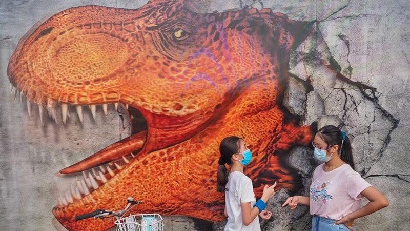 taman dinosaurus Changi