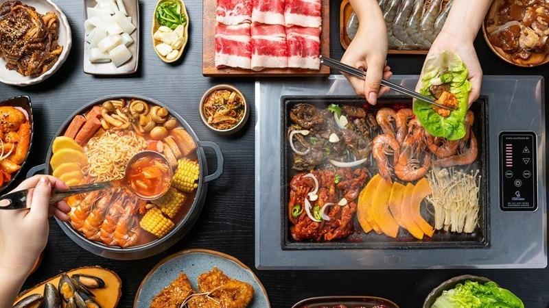 Hot pot dan BBQ ala Korea di Captain Kim. Instagram @braydenljh