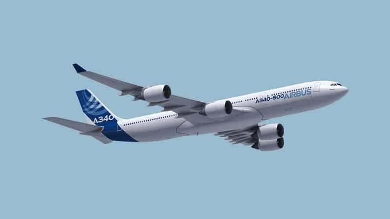 Ilustrasi Commercial Aircraft Stage Airbus A340-500. Photo by airbuscom