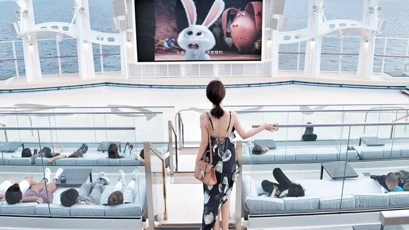 Ilustrasi kapal pesiar World Dream. Instagram @lesleslin