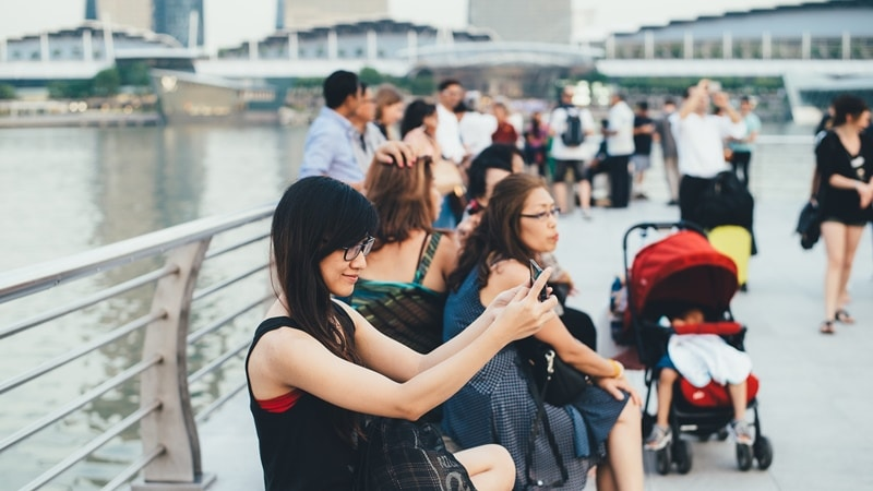 tiket dari China ke Singapura naik