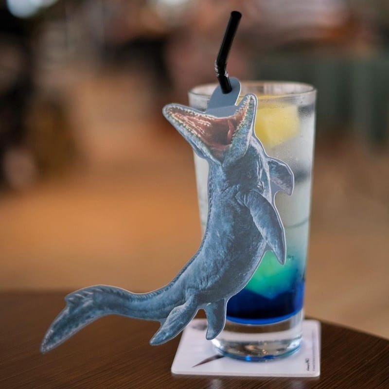 Mosasaurus Soda di Jurassic World Cafe Singapore. Instagram @kenpgl