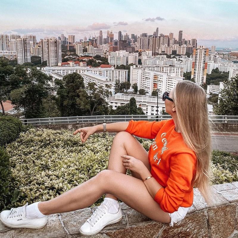 Pemandangan dari atas Mount Faber. Instagram @oksana_domoratskaya