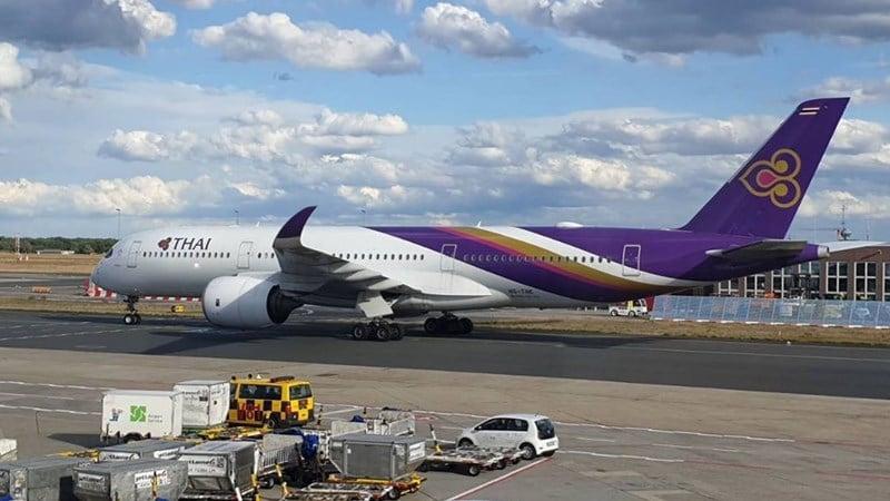 Pesawat milik Thai Airways International (THAI) menjadi armada untuk repatriasi. Instagram @thaiairways