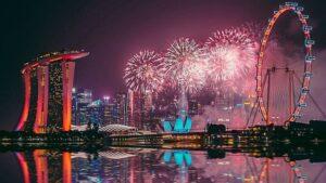 natal tahun baru Singapura