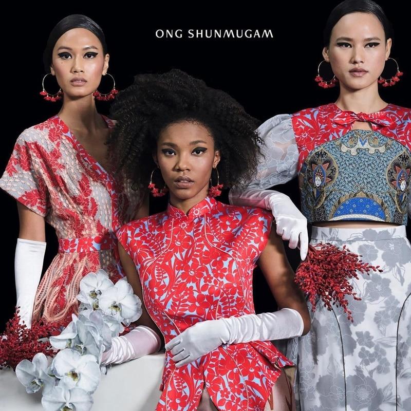 Pakaian koleksi Ong Shunmugam. Instagram @ongshunmugam