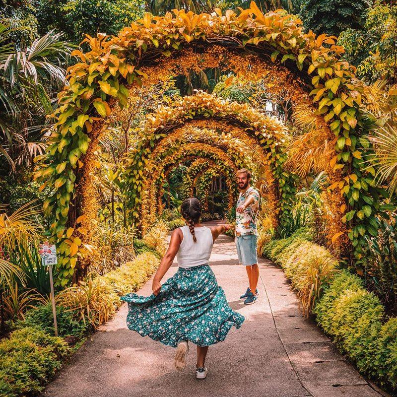 Singapore Botanic Gardens, wisata alam di Singapura. Instagram @viajaentusofa