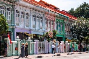 Ilustrasi Peranakan Houses Joo Chiat Singapura. Unsplash Winel Sutanto